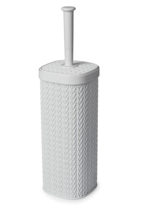 Blue Canyon Lace Design Toilet Brush White