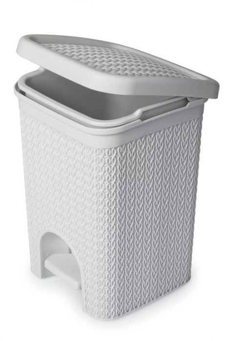Blue Canyon Lace Design Pedal Bin 5L White