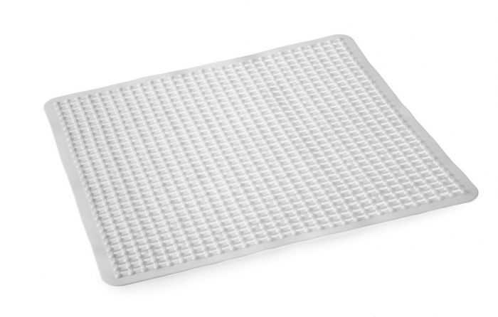 Blue Canyon Grid Shower Mat 53X53 White
