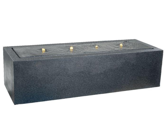 Kaemingk Rectangular Fountain Black - 55 X 155 X 40Cm