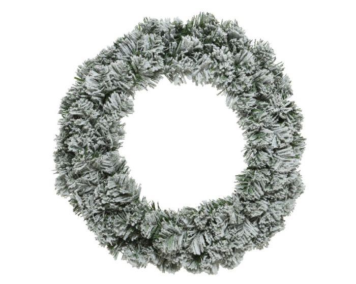 Snowy Imperial Wreath Green/White
