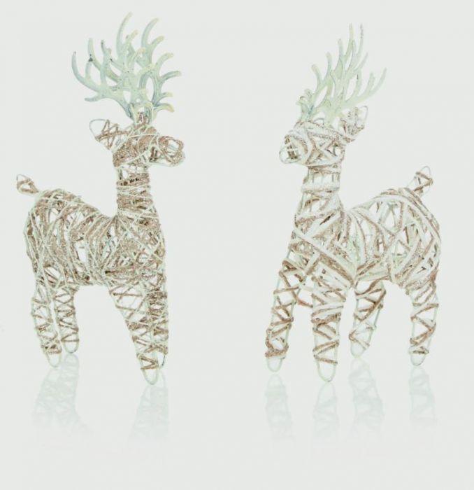 24Cm Jute Reindeer