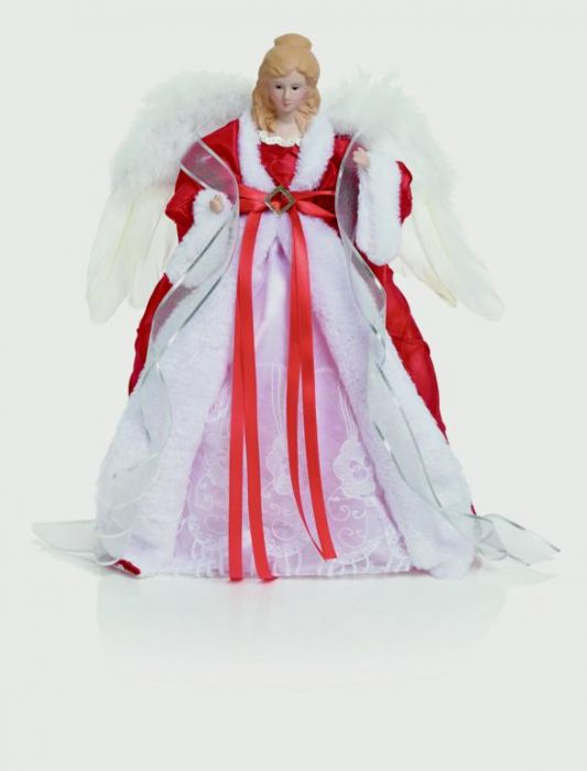 Red & White Dressed Angel