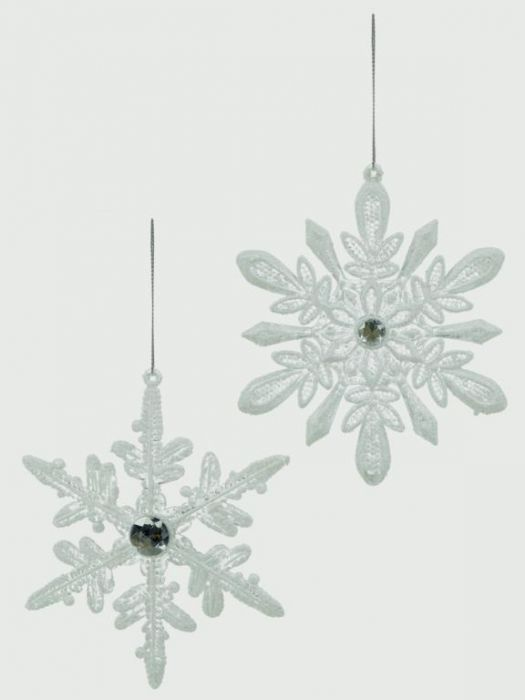Acrylic White Lace Snowflake