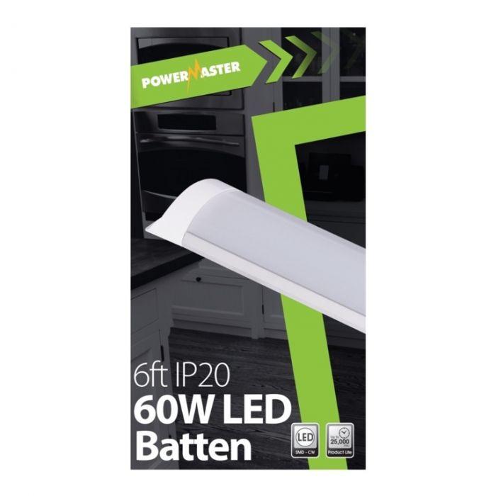 Powermaster Led Ip20 Batten 180Cm 60W