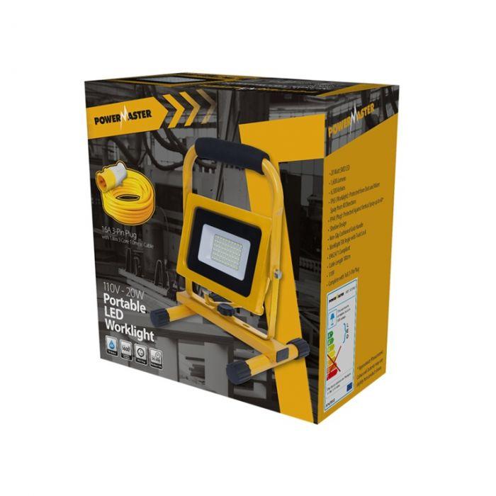 Powermaster 110V Slim Worklight Ip65 1600Lm 20W
