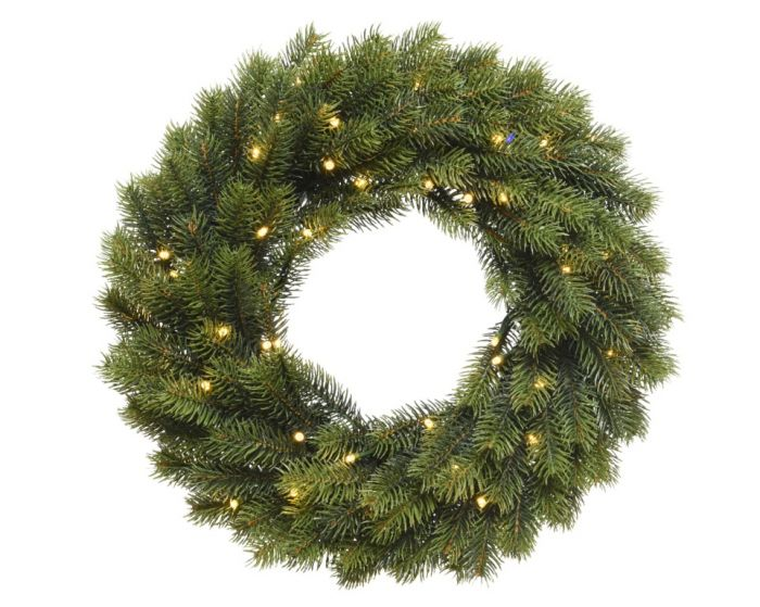 Pe Pre-Lit Green Wreath
