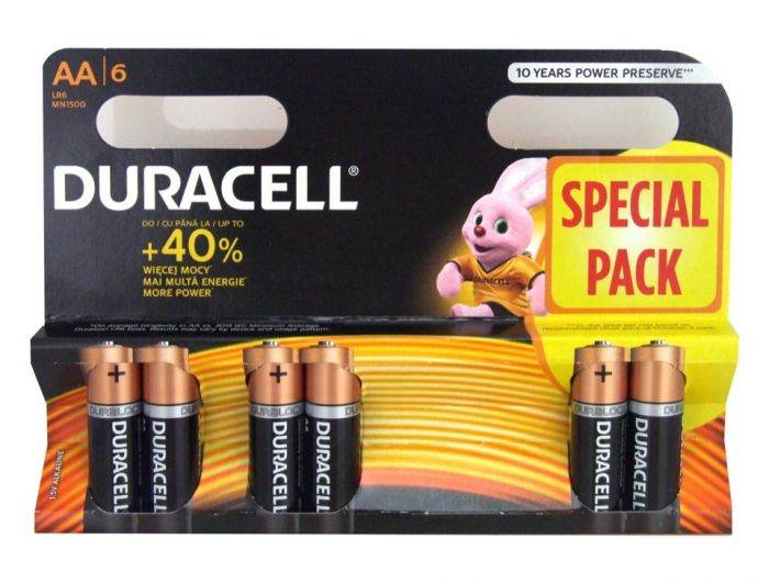 Duracell 4 Plus 2 Pack Batteries Aa