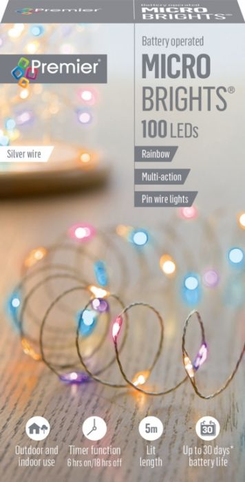 100 Led Multi Action Battery Operated Microbrights