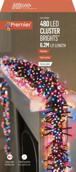 480 Multi Action Led Clusters Lights With Timer