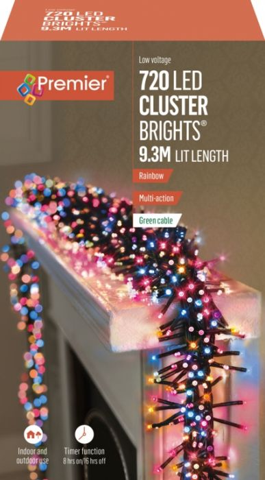 720 Multi Action Led Cluster Lights With Timer