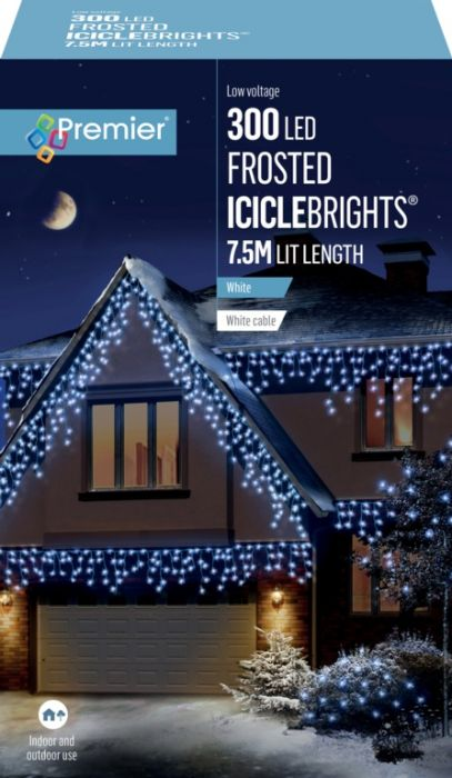 300 Led Multi Action Frosted Cap Icicles