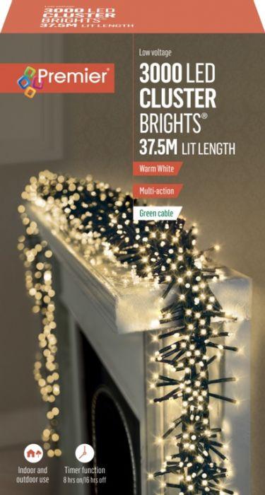 3000 Led Multi Action Cluster Lights With Timer