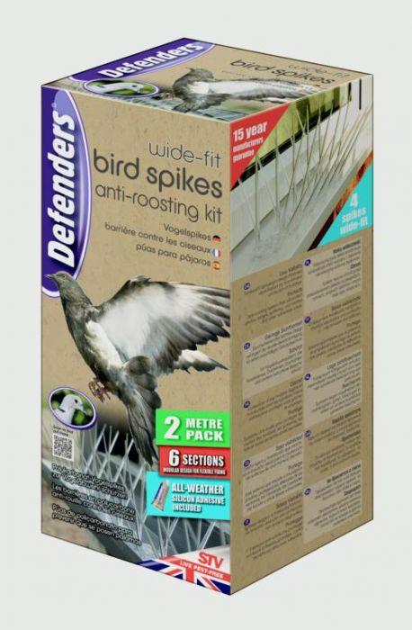 Defenders Wide Fit Bird Spikes 2 Metre Pack