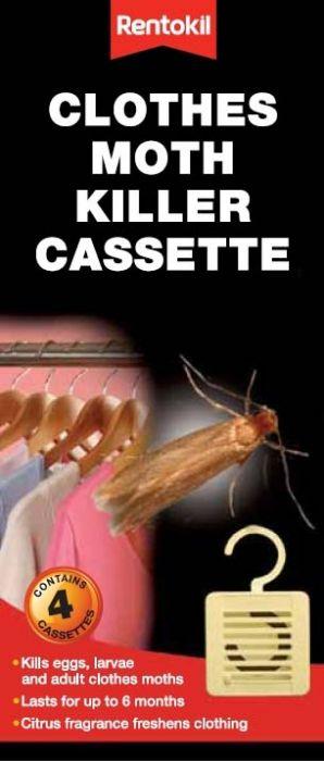 Rentokil Clothes Moth Killer Cassette Pack 4