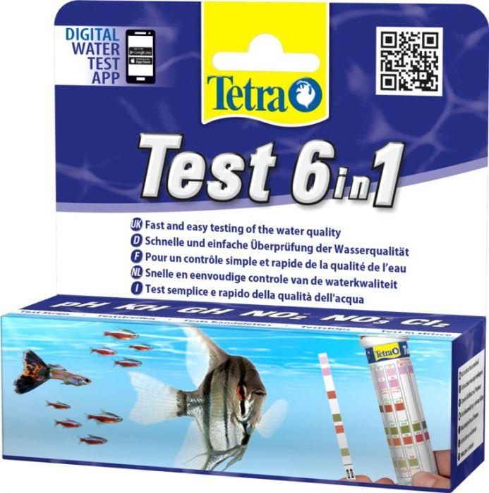 Tetra Aquarium Test Strip 6-In-1 25 Test