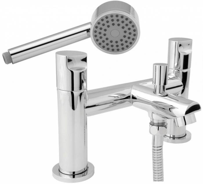 Ikon Basin Taps Bath Shower Mixer & Basin/Bath Waste Pack
