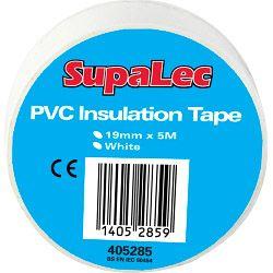 Supalec Pvc Insulation Tapes White 5 Metre Pack 10