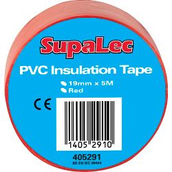 Supalec Pvc Insulation Tapes Red 5 Metre Pack 10