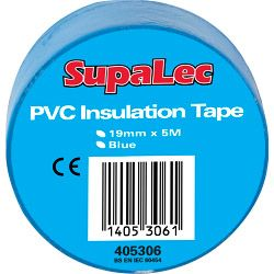 Supalec Pvc Insulation Tapes Blue 5 Metre Pack 10