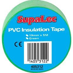 Supalec Pvc Insulation Tapes Green 5 Metre Pack 10