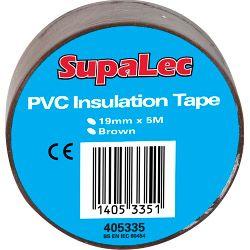Supalec Pvc Insulation Tapes Brown 5 Metre Pack 10