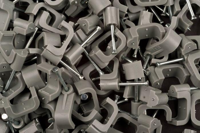Dencon 14Mm Grey Flat Cable Clips Box 100 Box 100