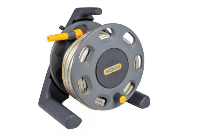 Hozelock Freestanding Compact Hose Reel With 25M Hose Reel