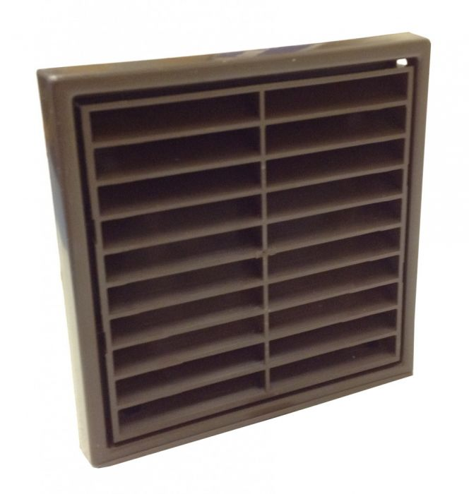 Manrose Fixed Grill 4 Brown