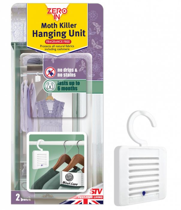 Zero In Moth Killer Hanging Unit Twin Pack