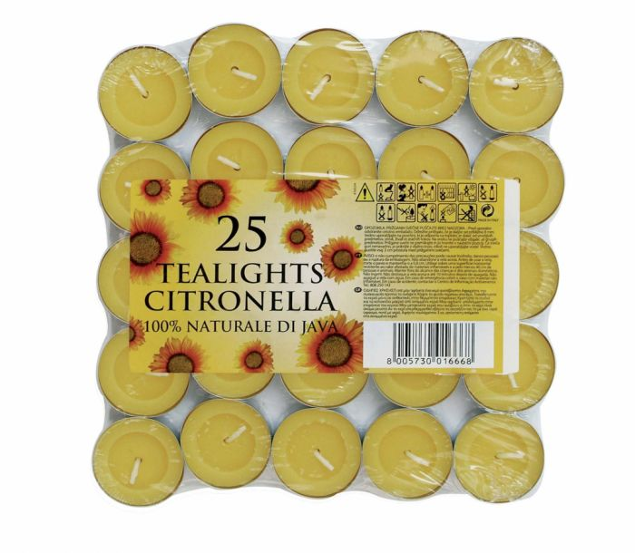 Price's Candles Tealights Pack 25 Citronella