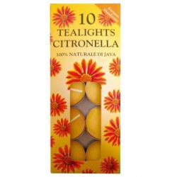 Price's Candles Tealights 10 Pack Citronella
