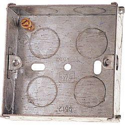 Dencon 35Mm 1 Gang Metal Box To Bs4664 Box Of 10