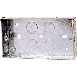 Dencon 35Mm 2 Gang Metal Box To Bs4664 Box Of 10