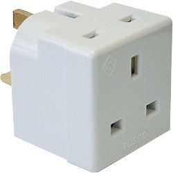 Dencon 13A 2 Way Multiplug To Bs1363/3 Bubble Packed