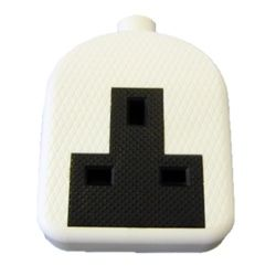 Dencon 13A Rubber Extension Socket White To Bs1363/A Pre-Packed