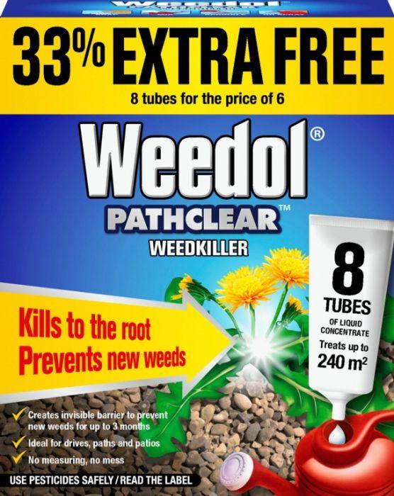 Weedol Pathclear Weedkiller 6 Tubes Plus 2 Free