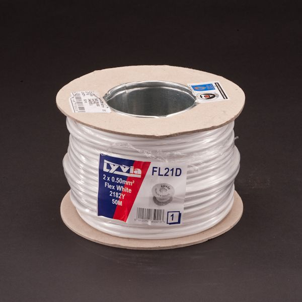 Lyvia 2182Y White Cable 2 X 0.50Mmx 50M