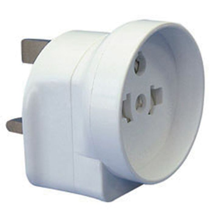 Securlec Travel Adaptor For Visitors To The Uk Bubble Packed