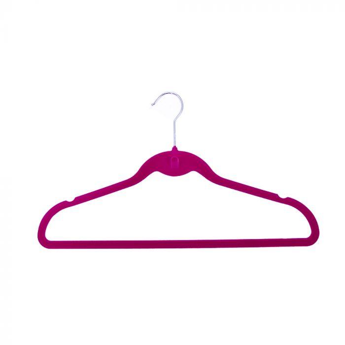 H & L Russel Set 5 Pink Velvet Suit Hangers Pink