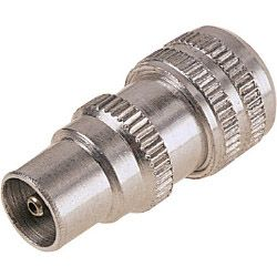 Dencon Metal Coax Plug 12 Carded