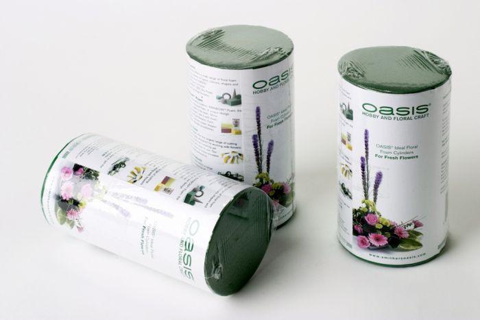 Oasis Ideal Floral Foam Cylinder 8 X 6Cm