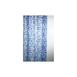 Blue Canyon Peva Shower Curtain 180 X 180Cm Mosaic Blue