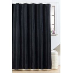 Blue Canyon Polyester Glitter Bling Design Shower Curtain Black