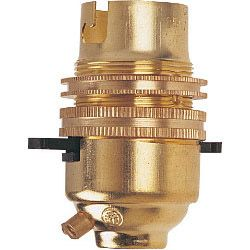 Dencon Bc Brass 1/2 Switched Lampholder With Earth Skin Packed
