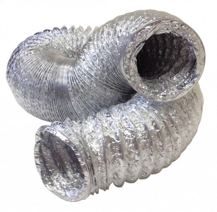 Manrose Alumunium Hose + Clip 4 3M
