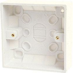 Dencon Single Gang Box (Inside 16Mm Outside 19Mm) With Earth Skin Packed