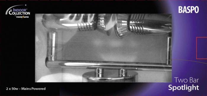 Powermaster Basic Twin Spot Bar Chrome