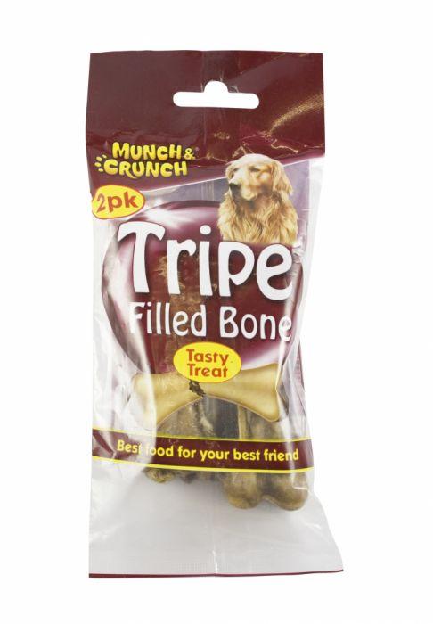 Munch & Crunch Tripe Filled Bone 2 Pack