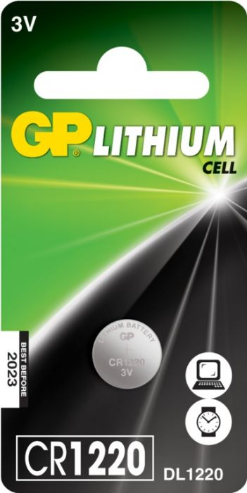 Gp Lithium Button Cell Battery Cr1220 Single